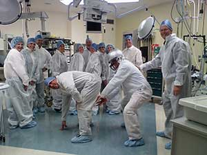 Class gets a first hand look at the new state-of-the-art surgical center at St. Charles Medical Center.