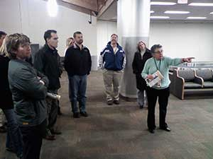 Airport Manager Carrie Novick gives class a personal tour of the newly expanded Redmond airport.